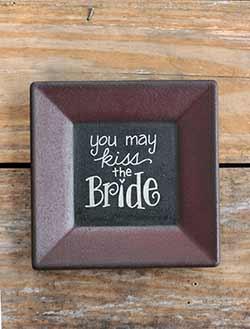 Kiss the Bride Primitive Plate