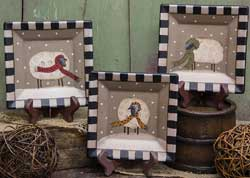 Sheep with Scarves Square Plates (Set of 3)