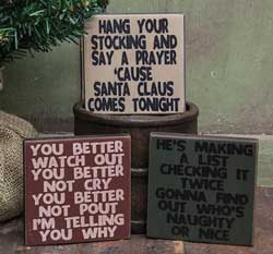 Nice Square Signs (Set of 3)