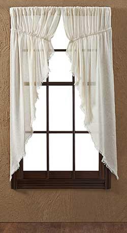 Tobacco Cloth Prairie Curtain - Natural