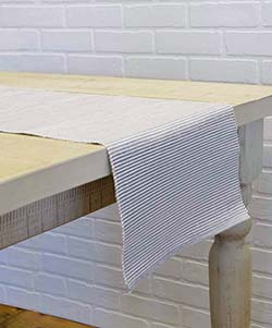 Ashton Gray 90 inch Table Runner