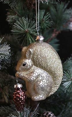 Gold Squirrel Ornament