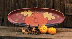 Give Thanks Pumpkin Primitive Tray