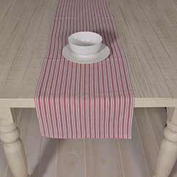 Classic Stripe Red 72 inch Table Runner