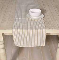 Classic Stripe Taupe 72 inch Table Runner