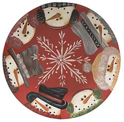 Snowmen Primitive Plate