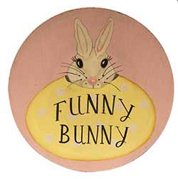 Funny Bunny Wood Plate
