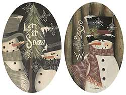 Let is Snow Snowmen Plates (Set of 2)