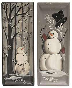 Winter Snowmen Trays (Set of 2)