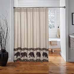 Wyatt Bear Shower Curtain
