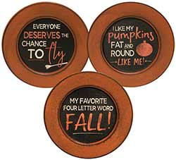 Fall Phrase Plates (Set of 3)