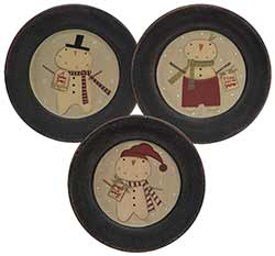 Jingle All the Way Snowman Plates (Set of 3)