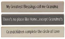 Grandma Mini Shelf Sitter Signs (Set of 3)