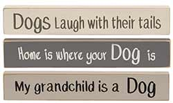 Dog Mini Shelf Sitter Signs (Set of 3)