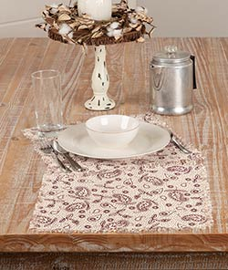Calistoga Tobacco Cloth Square Placemats (Set of 6)