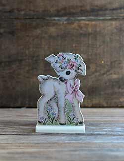 Vintage Easter Dummy Board - Lamb