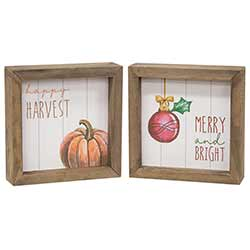 Harvest & Holiday Double Sided Sign