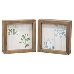 Spring & Snow Double Sided Sign