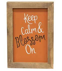 Blossom On Framed Wood Sign