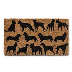 Dog Silhouette Doormat