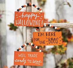 Halloweenie, Boos, & Candy Ornaments (Set of 3)