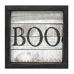 Boo Framed Sign
