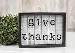 Give Thanks Framed Sign
