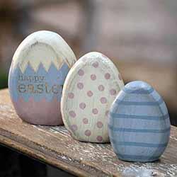 Easter Egg Shelf Sitters (Set of 3)