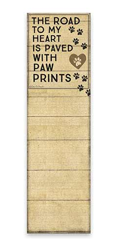 Paw Prints List Notepad
