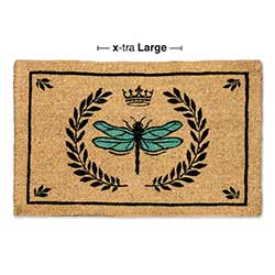 Dragonfly in Crest Doormat - Extra Large Size