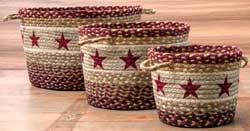 Burgundy Star Utility Basket