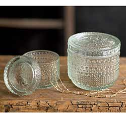 Decorative Glass Jars (Set of 2)