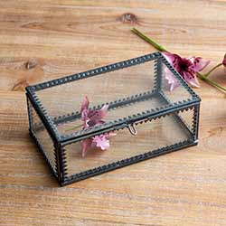 Glass Trinket Box - Small