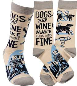 Dogs and Wine Socks