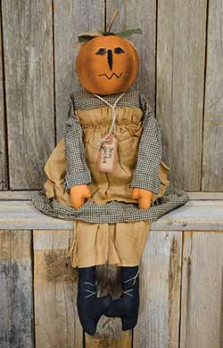 Primitive Halloween Girl Doll