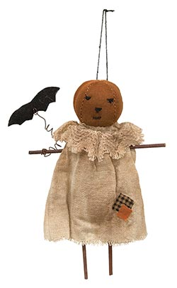 Pumpkin Girl Doll Ornament