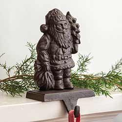 Cast Iron Santa Stocking Holder