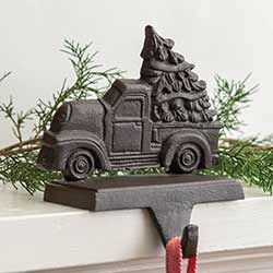 Cast Iron Truck Stocking Holder
