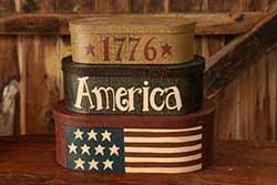 1776 America Patriotic Stacking Boxes (Set of 3)