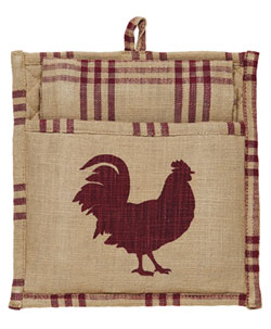 Red Rooster Pot Holder Set