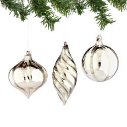 Solid 1956 Glass Ornament - Silver