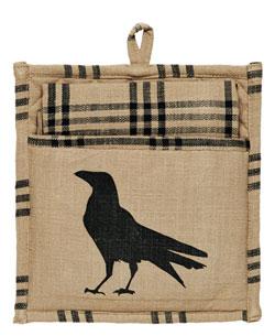 Olde Crow Pot Holder Set