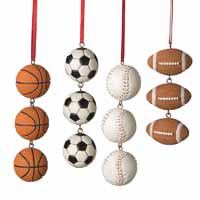 Sports Ball Swag Ornament