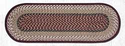 Burgundy & Mustard Cotton Tweed Table Runner, 36 inch
