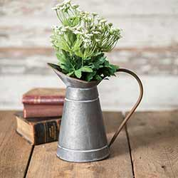 Rustic Metal Milk Pitcher