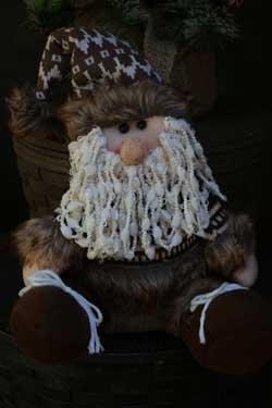 Furry Santa Claus Figure