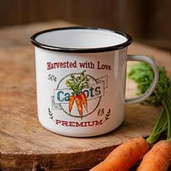 Carrots Enamelware Mug
