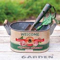 Flower Market Bucket with Handles