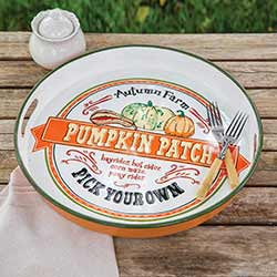 Pumpkin Patch Metal Tray