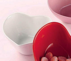 White Heart Candy Dish